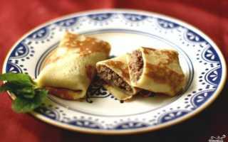 Мясные блинчики с начинкой – пошаговый рецепт с фото. Как приготовить