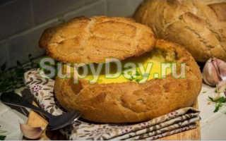Грибной суп в бородинском хлебе – пошаговый рецепт с фото. Как приготовить