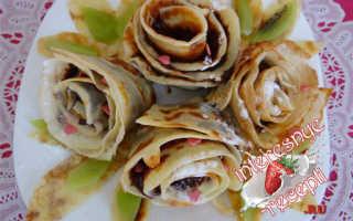 Блинные Розочки – пошаговый рецепт с фото. Как приготовить