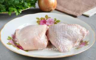 Куриные бедрышки с картофелем, запеченные в пакете – пошаговый рецепт с фото – для духовки