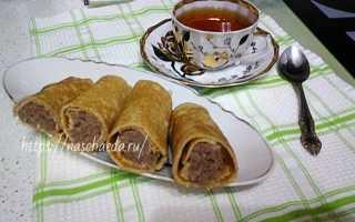 Блинчики с отварным мясом – пошаговый рецепт с фото. Как приготовить