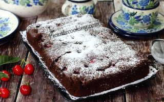 Вишнёвый пирог с шоколадом – пошаговый рецепт с фото. Как приготовить