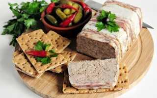Террин с куриной печенью и свиным фаршем – пошаговый рецепт с фото. Как приготовить