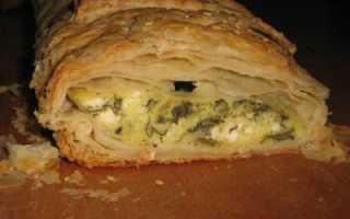 Рецепт штруделя с лососем, моцареллой и шпинатом пошагово с фото или готовим дома штруделей