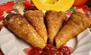 Блины с картофелем и соусом из тыквы – пошаговый рецепт с фото. Как приготовить