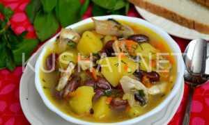 Суп с фасолью и грибами по-закарпатски. – пошаговый рецепт с фото. Как приготовить