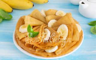 Банановые блинчики. – пошаговый рецепт с фото. Как приготовить