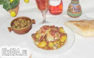 "Курица с оливками по-корсикански ""Poulet aux olives"" – пошаговый рецепт с фото. Как приготовить"
