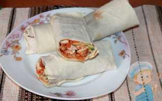 Шаурма в лаваше – пошаговый рецепт с фото. Как приготовить