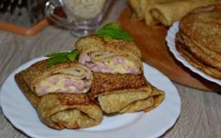 Блинчики фаршированные шпинатом сыром и колбасой – пошаговый рецепт с фото. Как приготовить