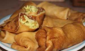 Блины с курицей и грибами в сливках и с сыром – пошаговый рецепт с фото. Как приготовить