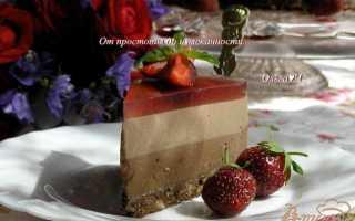"""Торт-мусс """"Два шоколада и лесные ягоды"""" – пошаговый рецепт с фото. Как приготовить"""
