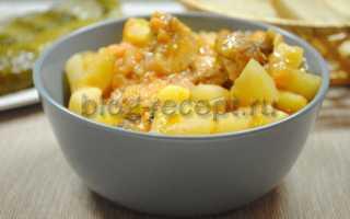 Курица тушеная с картошкой – пошаговый рецепт с фото. Как приготовить