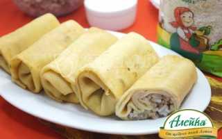 Блинчики с мясом и рисом – пошаговый рецепт с фото. Как приготовить