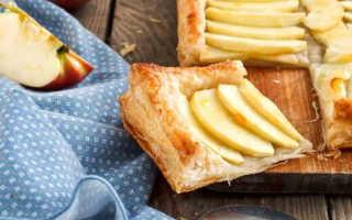 Пирог из слоеного теста с яблочной начинкой – пошаговый рецепт с фото. Как приготовить