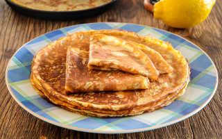 Лимонные блинчики – пошаговый рецепт с фото. Как приготовить
