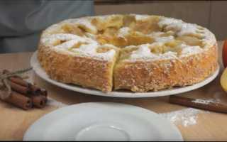 """Пирог """"Четыре яблока"""" – пошаговый рецепт с фото – для духовки"""