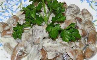 Куриные сердечки в грибном соусе – пошаговый рецепт с фото. Как приготовить