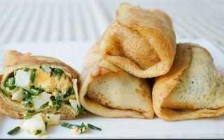 Блинчики с мясом, грибами и зеленым луком – пошаговый рецепт с фото. Как приготовить