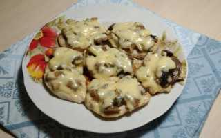 Куриная грудка с грибами и сыром – пошаговый рецепт с фото. Как приготовить